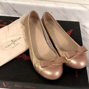 Designer Cole Haan rose gold ballerina 💕
